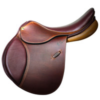 Pessoa GenX - XCH Saddle with Pencil Knee RollRoll - Oakbark