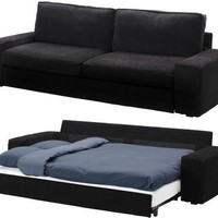 Slipcover for Ikea Kivik 3 Seat Sofa Bed Slipcover, Tranas Black Sleeper Cover