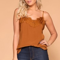 Amber Rust Lace Cami