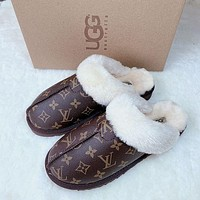 LV Louis Vuitton UGG Fashion Hot Sale Baotou Plush Slipper Boots Shoes