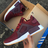 """""""Adidas"""" NMD XR1 Duck Camo Women Men Running Sport Casual Shoes Sneakers Camouflage wine red"""