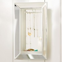 Mirrored Wall Jewelry Storage, Rectangle