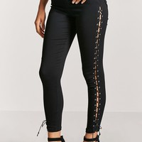 Lace-Up Skinny Pants