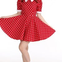 Glitters For Dinner — Ready To Post - Polka Dot Alice Dress In Red