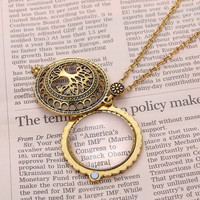Stylish New Arrival Jewelry Shiny Gift Vintage Pendant Mirror Necklace [10893371535]