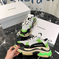 Balenciaga 18FW Gray Green Triple-S Dad Torre Sneakers Trainers Running Shoes