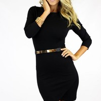 Back Wrap Bottom Bodycon Mini Dress