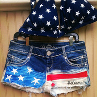 AMERICAN FLAG SHORTS - Custom Order