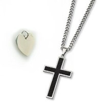 Cross Necklace with Heart Pendant for Men & Women in Gift Box
