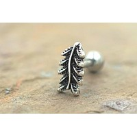 Feather Cartliage Earring Tragus Helix Piercing