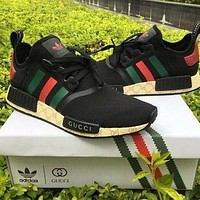 GUCCI x Adidas NMD R1 lightweight mesh breathable sneakers shoes