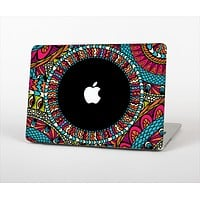"The Vector Colored Aztec Pattern WIth Black Connect Point Skin Set for the Apple MacBook Pro 13"" with Retina Display"