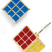 ModCloth Quirky Cube Belong with Me Earrings