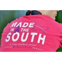 """""""Made in the South"""" Pocket Tee in Red by High Cotton"""