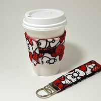 Hello Kitty Coffee Cozy and Key Chain Combo