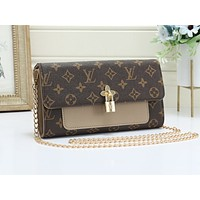LV fashion hot selling casual lady print Mosaic color shopping shoulder bag #5