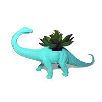 Up-cycled Sea Breeze Apatosaurus Dinosaur Planter