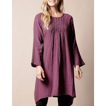 Brenley Tunic Dress - Plum