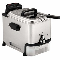 T-Fal Deep Fryer with Basket, Oil Fryer with Oil Filtration, Easy to Clean, 2.6 Pounds, Silver
