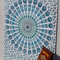 White Mandala Tapestry,Hippie Wall Hanging,Hippie Tapestry,Bohemian Tapestry,Indian Boho Cotton Bedspread Bed Sheet Beach throw picnic throw