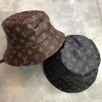 LV Fashion Casual PU Fishing Hats Printed Hats For Women Men