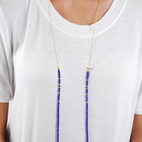 The Betsy Necklace - Navy