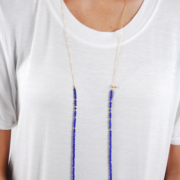 Simple Strand Necklace - Navy