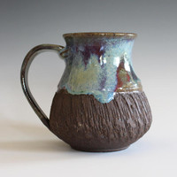 Coffee Mug Pottery, 16 oz, handthrown ceramic mug, stoneware pottery mug, unique coffee mug