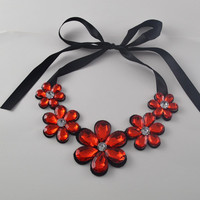 2017 New Luxury fashion short statement necklace and pendant resin color fashionable woman  necklace gift -0330