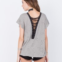 Destroyed Laced Back Tee
