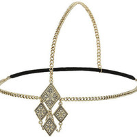 Gold Aztec Diamonds Headband