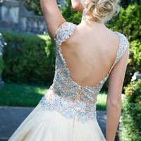 Cap sleeve ball gown 93412 - Prom Dresses