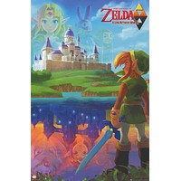 Legend of Zelda Link Between Worlds Poster 24x36