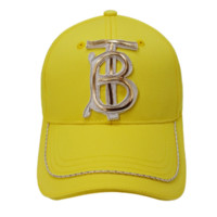 Burberry New fashion embroidery letter couple cap hat Yellow