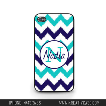 Ikat Chevron iPhone cases, iPhone 4 Case, iPhone 5 case, Personalized iPhone 4S, iPhone Case, Personalized iPhone Cover - K248