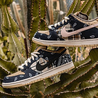 Travis Scott x Nike Sb Dunk Low vintage sneakers shoes