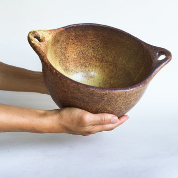 LARGE MIXING BOWL rustic ceramic, pottery, soup, noodle, mixing, cereal, ramen, pho, salad, pasta, chili, rice