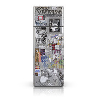 Fridge Decal - Vandal's Favorite Graffiti Fridge Wallpaper - Fridge Vinyl Skin Sticker