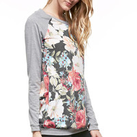 Smell The Roses Sweatshirt - Heather Grey/Charcoal (Ships 10/17)