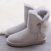 Women's UGG snow boots Mid-tube women's boots DHL _1686248855-390