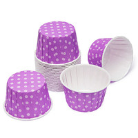 Paper 4-Ounce Candy Cups - Lavender Polka Dots: 25-Piece Pack