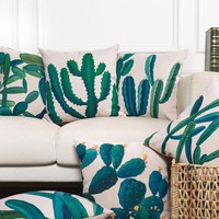Home Decorative Cactus Pillow/ Cushion Cover