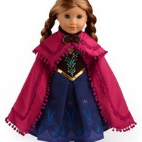 """Doll Clothes Fits American Girl 18"""" Inch Outfit Princess Anna Dress"""