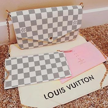 LV Bag Louis vuitton Crossbody bag Hot Sale Popular Women Shopping Bag Leather Handbag Tote Shoulder Bag Satchel Three-Piece