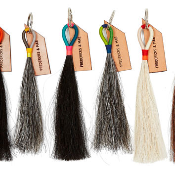 Horse Hair Tassels Key Chains, Multi, Set of 6, Other Lifestyle Accessories