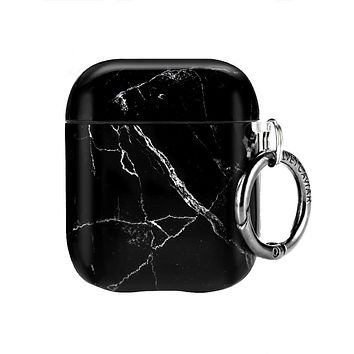 Black Marble Airpods Case
