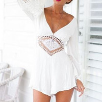 Long Sleeve Boho Couture Romper