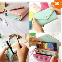 Women Wrist Wallet Pouch for iPhone 6 iPhone 4/4S/5/5S/5C/6,Samsung Galaxy S3/S4  MP4/5 = 1946290884