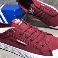 Adidas Honey low Casual Fashion Wine red Canvas Shoes