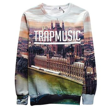 Palace of Westminster Women Men Sweatshirt Hoodies Casual 3D Printed O-Neck Mens Pullover Women Hoody Clothes Hip Hop